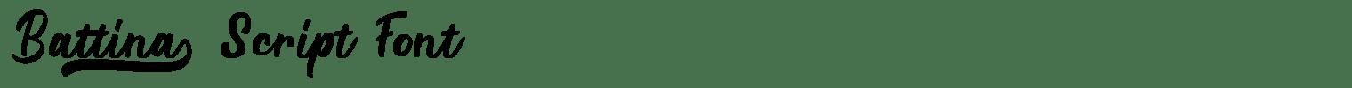 Battina Script Font