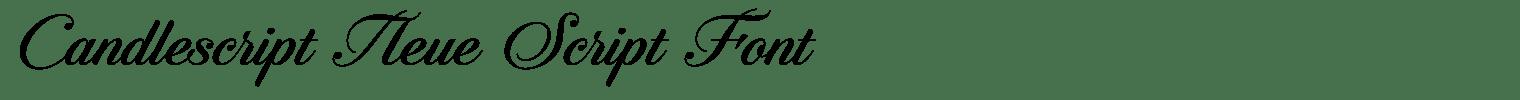 Candlescript Neue Script Font