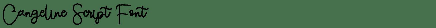 Cangeline Script Font
