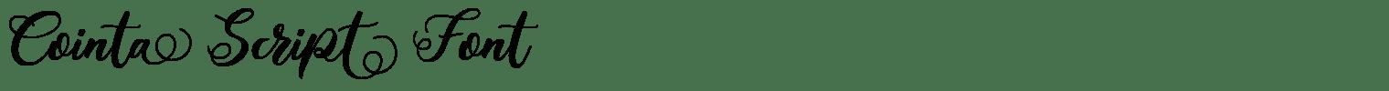 Cointa Script Font