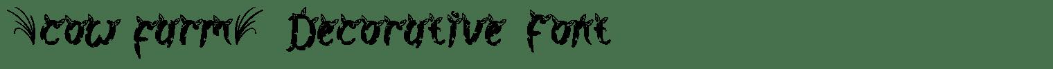 Cow Farm Decorative Font
