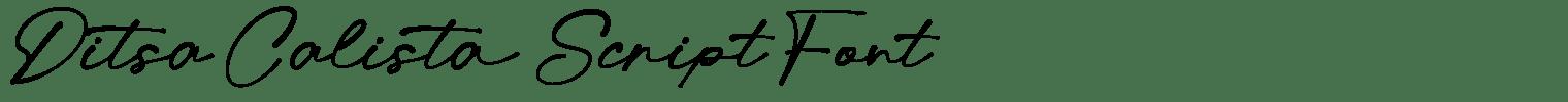 Ditsa Calista Script Font