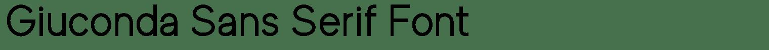 Giuconda Sans Serif Font