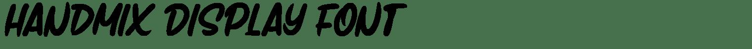 Handmix Display Font