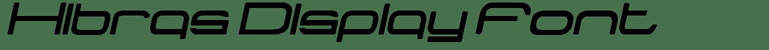 Hibras Display Font