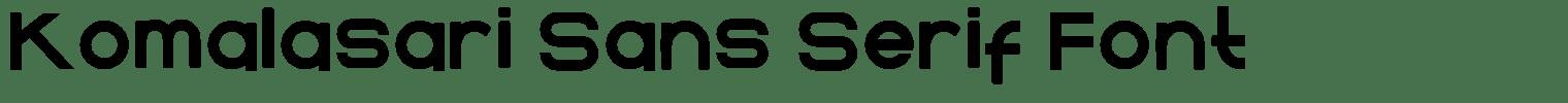 Komalasari Sans Serif Font