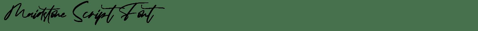 Maidstone Script Font