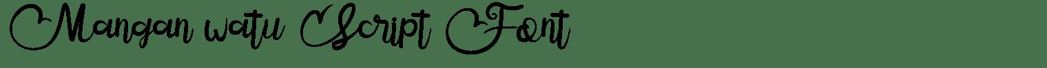 Mangan watu Script Font