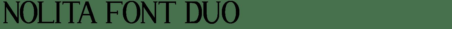 Nolita Font Duo
