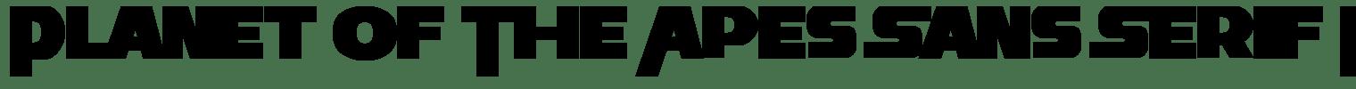 Planet Of The Apes Sans Serif Font
