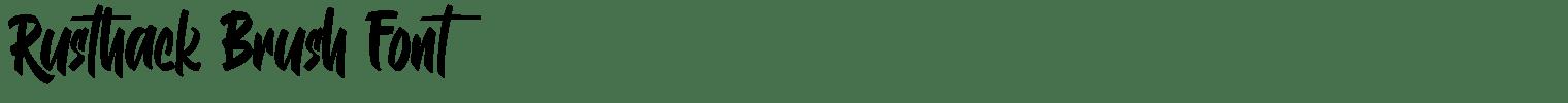 Rusthack Brush Font