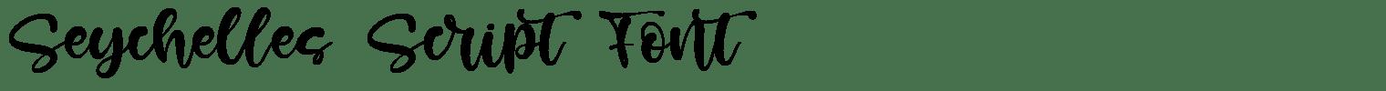 Seychelles Script Font