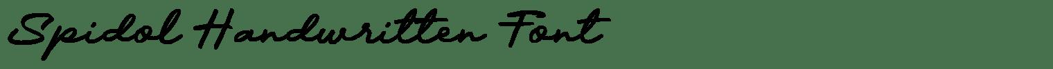 Spidol Handwritten Font