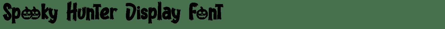 Spooky Hunter Display Font