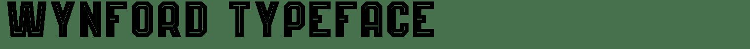 Wynford Typeface
