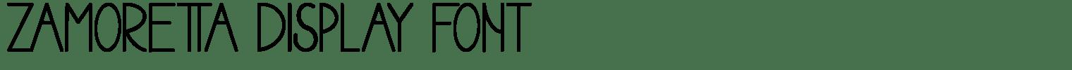 Zamoretta Display Font