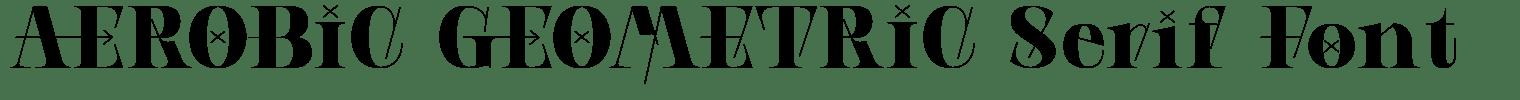 AEROBIC GEOMETRIC Serif Font