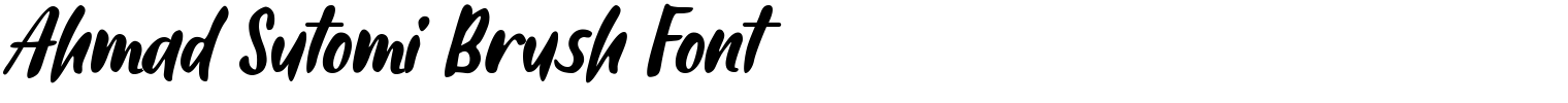 Ahmad Sutomi Brush Font