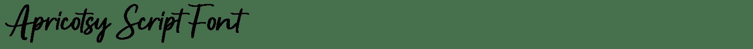 Apricotsy Script Font