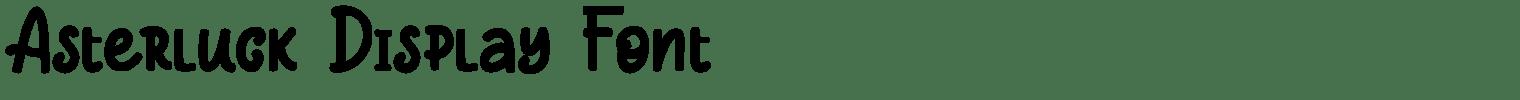 Asterluck Display Font