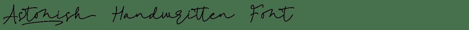 Astonish Handwritten Font