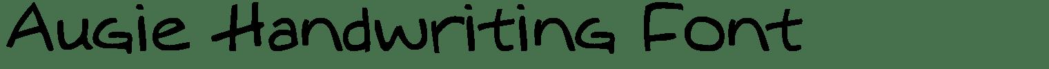 Augie Handwriting Font