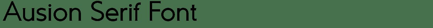 Ausion Serif Font