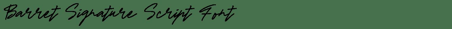Barret Signature Script Font