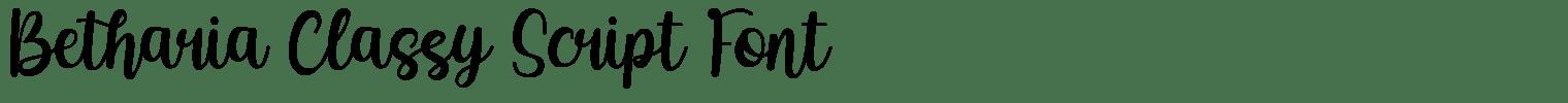 Betharia Classy Script Font