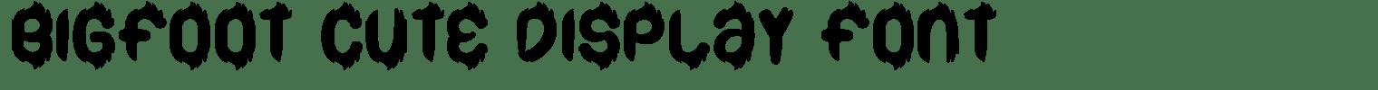 Bigfoot Cute Display Font