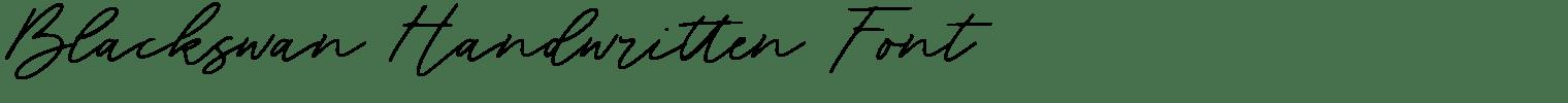 Blackswan Handwritten Font