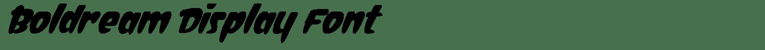Boldream Display Font