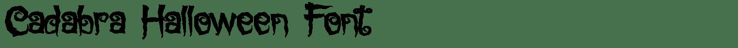 Cadabra Halloween Font