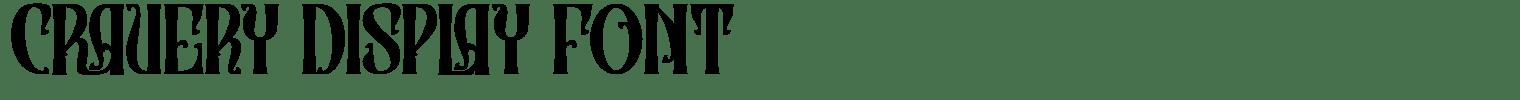 Cravery Display Font