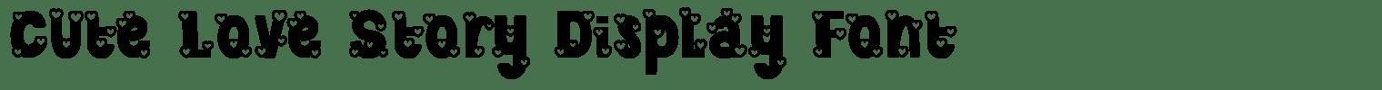 Cute Love Story Display Font