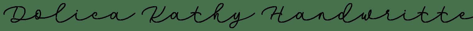 Dolica Kathy Handwritten Font
