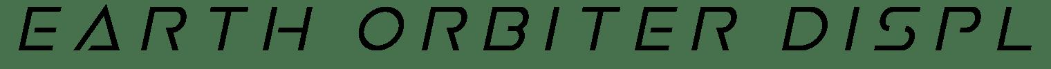 Earth Orbiter Display Font