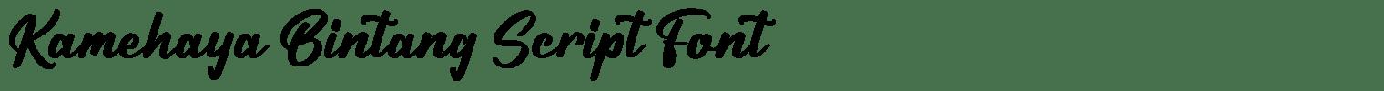 Kamehaya Bintang Script Font