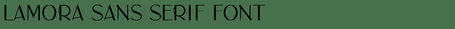 Lamora Sans Serif Font