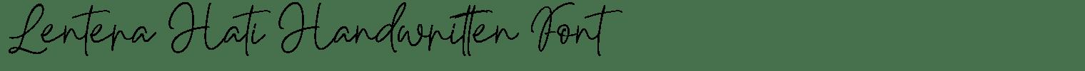 Lentera Hati Handwritten Font