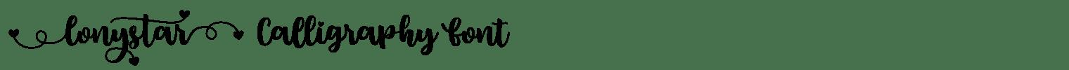 Lonystar Calligraphy Font
