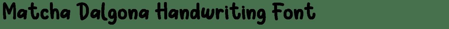 Matcha Dalgona Handwriting Font