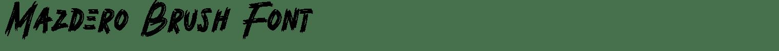 Mazdero Brush Font