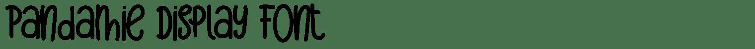 Pandamie Display Font