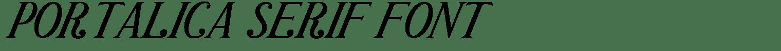 Portalica Serif Font