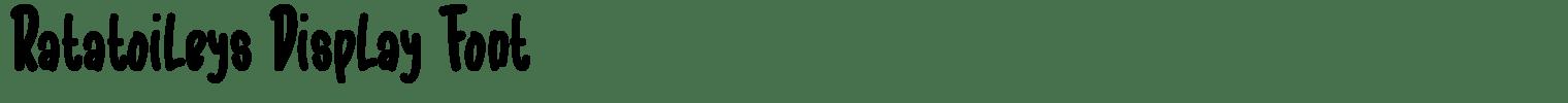 Ratatoileys Display Font