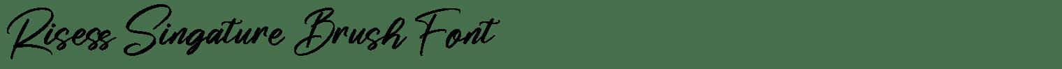 Risess Singature Brush Font