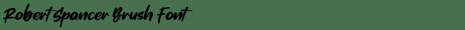 Robert Spancer Brush Font