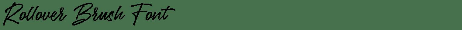 Rollover Brush Font