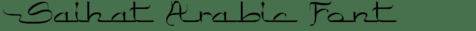 Saihat Arabic Font